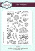 Creative Expressions - Spread Your Wings Journaling A5 Clear Stamp Set - CEC872